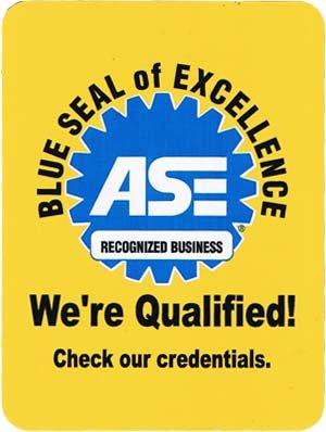 ASE Certified Blue Seal