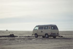 Vanagon at beach